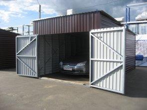 Применение блок-контейнера под гараж