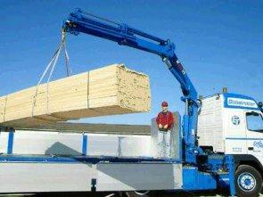 Перевозки строительных материалов манипулятором