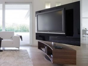 Подставка под ТВ в дизайне интерьера