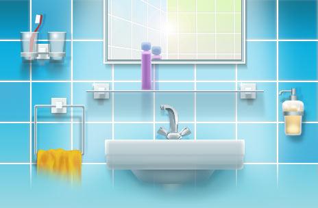детали для мебели для ванной